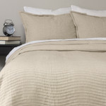 Amity Home Wave Matelasse Coverlet Set - Natural