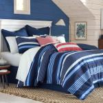Southern Tide Sullivan Stripe Tonal Blue Comforter Set