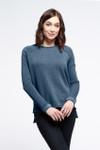 Yala Keri Organic Cotton Raglan Sweatshirt - Navy