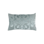 Lili Alessandra Angie Small Rectangle Pillow - Sky Linen / Sky Matte Velvet Appliqué