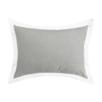 Elisabeth York Digby Pillow Sham - Pewter