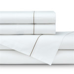 Lili Alessandra Bella Sheet Set - White with Raffia