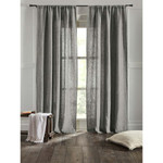 "Amity Home Bryce linen Curtain 96"" - Grey Chambra"