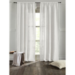 """Amity Home Bryce linen Curtain 96"""" - Ivory"""