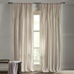 "Amity Home Ethan Velvet Curtain 96"" - Ivory"