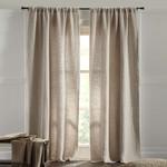 "Amity Home Graham linen Curtain 96"" - Natural"