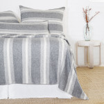 Pom Pom at Home Aspen Blanket -Grey/Ivory