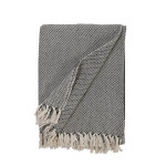 Pom Pom at Home Jayden Throw - Ivory/Charcoal