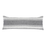 Pom Pom at Home Aspen Bolster Pillow -Grey/Ivory