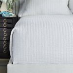 Lili Alessandra Tessa Quilted Coverlet - White Linen