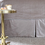 Lili Alessandra Aria Tailored Bed Skirt - Raffia Matte Velvet