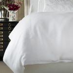 Lili Alessandra Bloom Double Flange Duvet - White Linen
