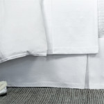 Lili Alessandra Bloom Tailored Bed Skirt - White Linen