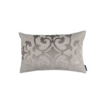 Lili Alessandra Angie Small Rectangle Pillow - Raffia Linen / Raffia Matte Velvet Appliqué