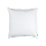Lili Alessandra Bloom Double Flange Euro Pillow - White Linen