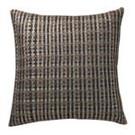 Orchids Lux Home Warren Basket Weave Deco Pillow - Silver