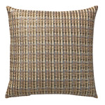 Orchids Lux Home Warren Basket Weave Deco Pillow - Gold
