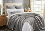 Orchids Lux Home Molly Blanket - Navy