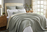 Orchids Lux Home Molly Blanket - Mint