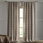 """Amity Home Rugby Curtains 96"""" - Natural"""