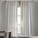 """Amity Home Rugby Curtains 96"""" - White"""