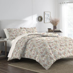 Martex Abigail Floral Queen Comforter Set -Ivory