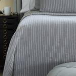 Lili Alessandra Chevron Blanket - Grey/White Cotton