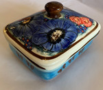 Boleslawiec Polish Pottery UNIKAT Candy Box - Blue Sky Meadow