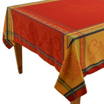 Jacquard Weave French Tablecloths - Seguret Red