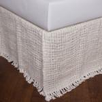 Amity Home Trawick Linen Bedskirt - Ivory