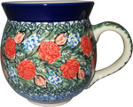 Boleslawiec Polish Pottery UNIKAT 10oz Bubble Coffee Mug - Ceramika Artystyczna 3661