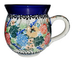 Boleslawiec Polish Pottery 10oz Bubble Coffee Mug - Ceramika Artystyczna 2877