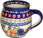 Boleslawiec Polish Pottery UNIKAT 16oz Bubble Coffee Mug - Patricia