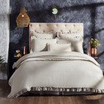 Orchids Lux Home Ruffle Duvet Cover - Grey