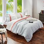 Orchids Lux Home Stripe Duvet Cover - Ginger/Aqua