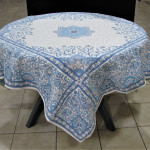 Jacquard Weave French Tablecloth - Treasure of St Tropez Tapestry / Blue