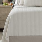 Lili Alessandra Chevron Blanket - Raffia/White Cotton