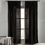 Amity Home Ranier Linen Curtain - Asphalt