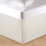 C&F Tailored Bed Skirt - Soft White