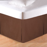 C&F Tailored Bed Skirt - Brown