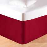 C&F Tailored Bed Skirt - Red