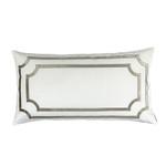 Lili Alessandra Soho King Pillow - Ivory Matte Velvet with Fawn Matte Velvet