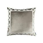 Lili Alessandra Karl Square Pillow - Fawn Matte Velvet/Ivory MatteVelvet