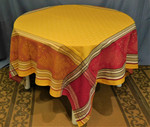 Jacquard  Weave Acanthus Tablecloths - Yellow/Red