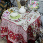 Jacquard Weave French Tablecloth - Fraise Tapestry