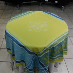 Jacquard  Weave Ochre Tablecloths - Yellow