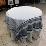 Jacquard  Weave Carnac Tablecloths - Gray