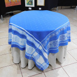 Jacquard  Weave Carnac Tablecloths - Blue