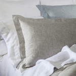 DownTown Company Layla Linen Duvet Cover - Gray Dawn