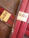 "Gold Rush 12"" Natural Beeswax Glitter Candle Set - Ruby Red"